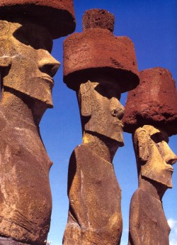 ANCIENT EASTER ISLAND PAGAN STATUES on CANVAS.jpg
