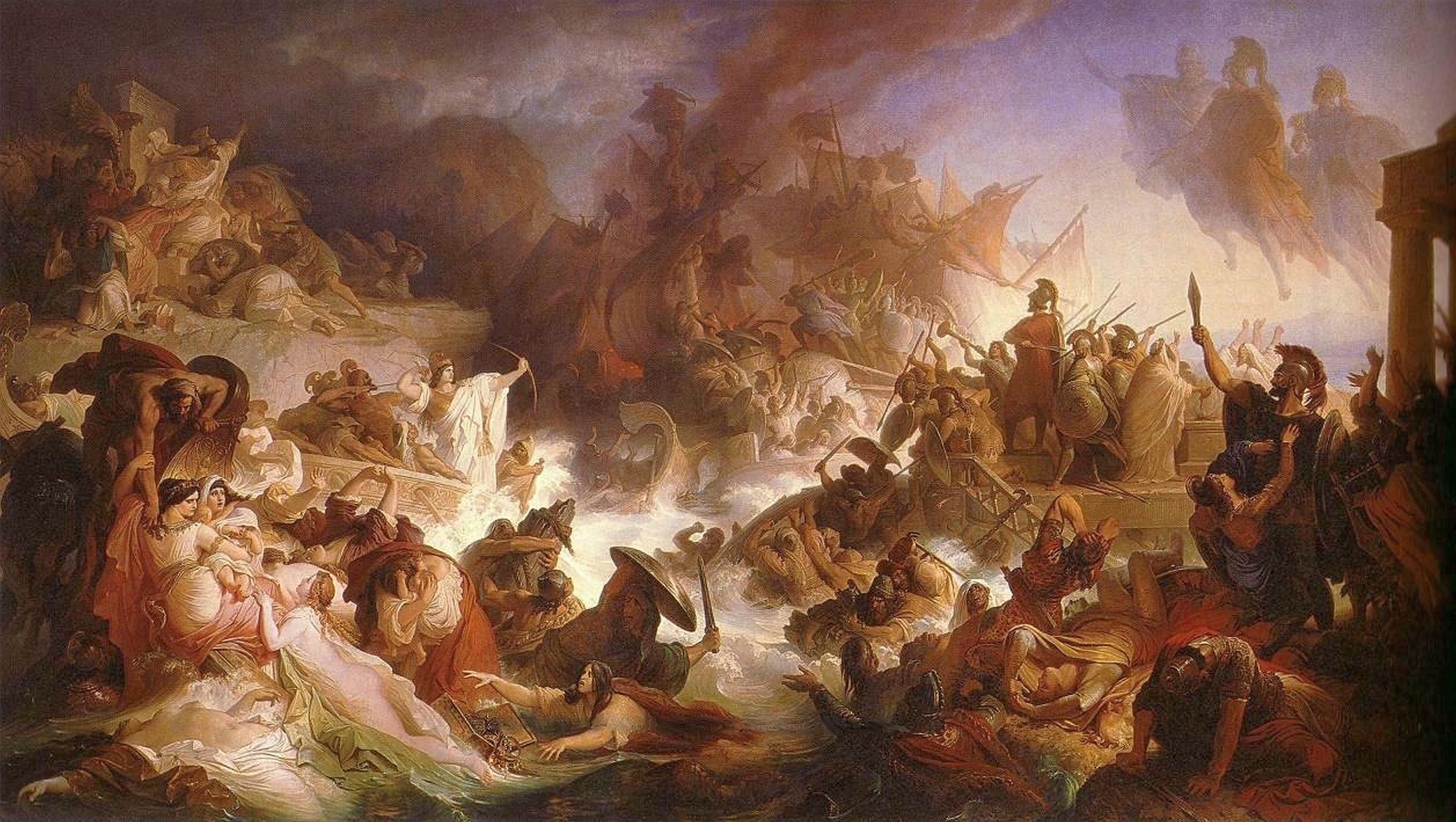 Kaulbach,_Wilhelm_von_-_Die_Seeschlacht_bei_Salamis_-_1868.JPG
