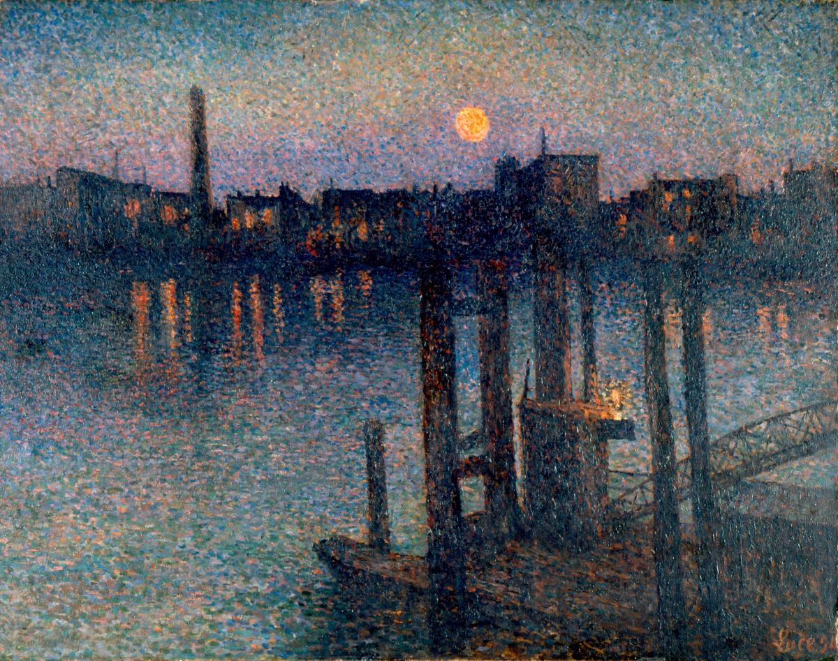 Maximilien Luce 'Port of London Night'.jpg