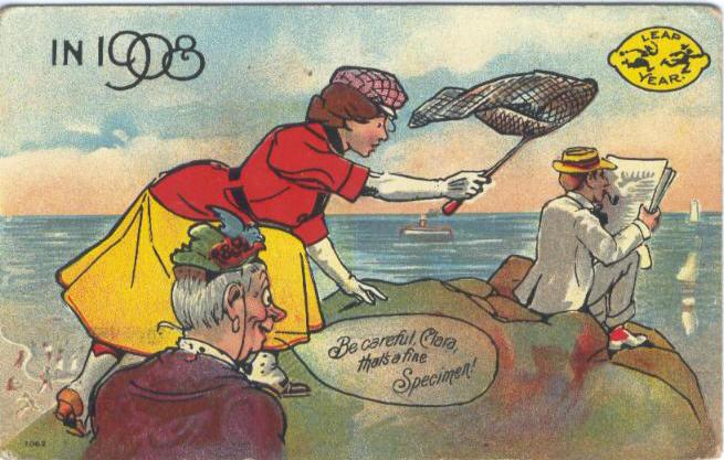 PostcardLeapYearBeCarefulClara1908.jpg