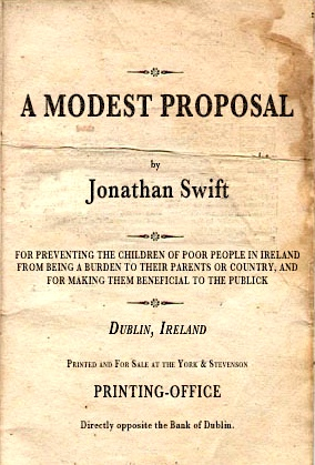 a modest proposal jonathan swift thesis
